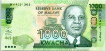 Malawi 1000 Kwacha, Hastings Kamuzu Banda - 2016