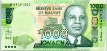 Malawi 1000 Kwacha, Hastings Kamuzu Banda -2016