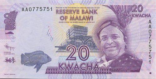 Malawi 20 Kwacha Inkosi Ya Makhosi M Mbelwa II