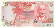 Malawi 5 Kwacha 1994 - Hastings Kamuzu Banda