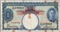 Malaya 1 dollar  George VI - Armoiries - 1941 L58