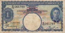 Malaya 1 Dollar George VI - 1941