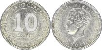 Malaya 10 Cents Georges VI