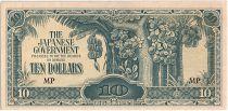 Malaya 10 Dollars ,  Japanese Government - 1944 - M7 b