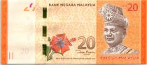 Malaysia 20 Ringitt, T.A. Rahman - Sea Turtles - 2012