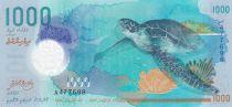Maldives 1000 Rufiyaa, Turtle - Whale shark - Polymer 2015