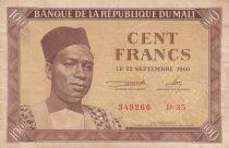 Mali 100 Francs 1960 - Président Modibo Keita, troupeau de vache - D.35