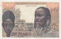 Mali 100 Francs masque  - Mali - Série A.89