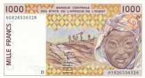 Mali 1000 Francs femme 2001 - Mali