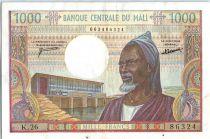 Mali 1000 Francs Vieil Homme - Village - 1970