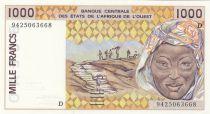 Mali 1000 Francs woman 1994 - Mali