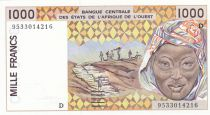 Mali 1000 Francs woman 1995 - Niger