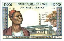 Mali 10000 francs  Vieil homme, usine - Femme - 1973-84 - H.7