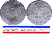 Mali 25 Francs - 1976 - Test strike - Central Bank of Mali