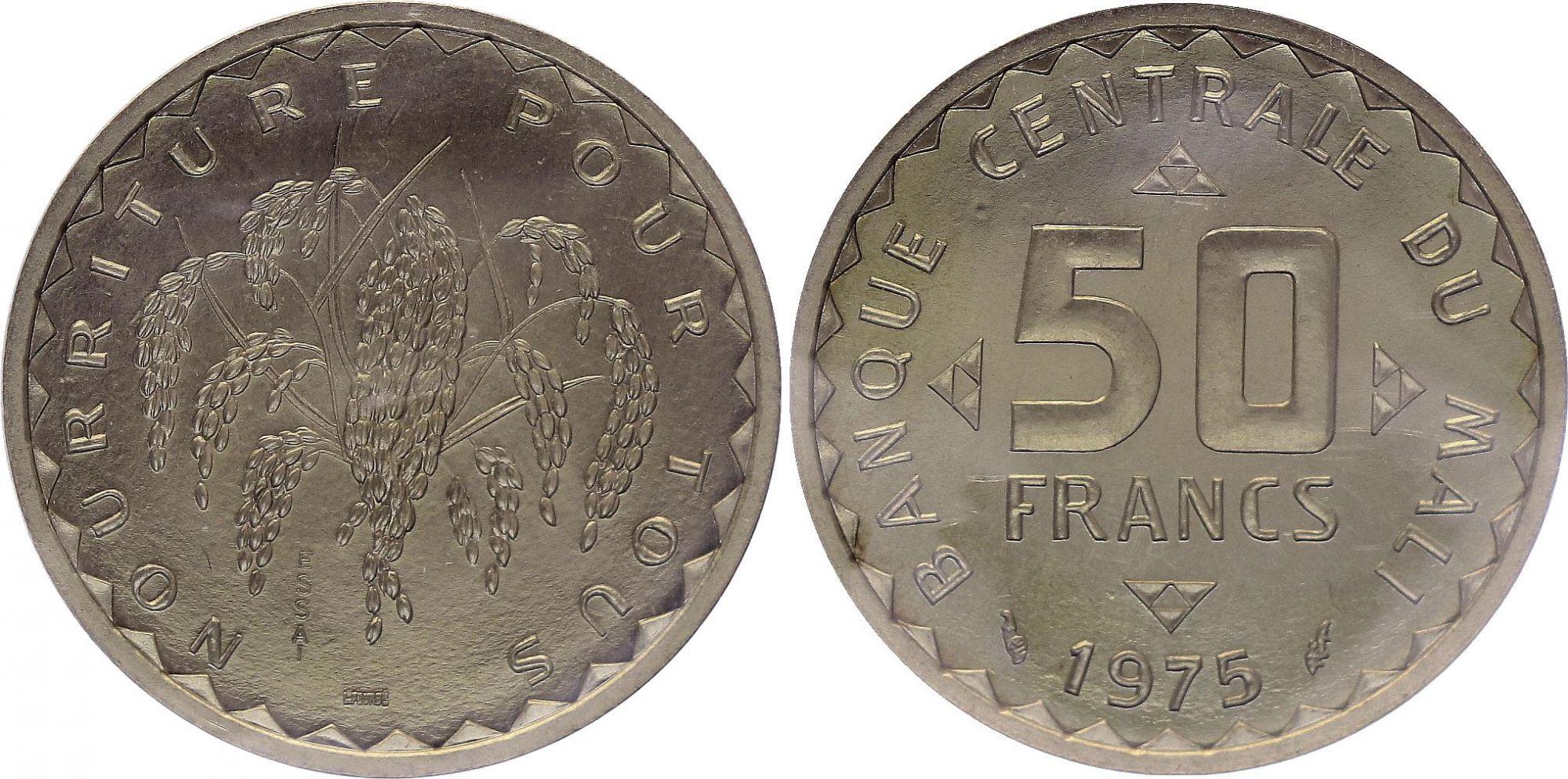 Mali 50 Francs - 1975 - Test strike - Central Bank of Mali