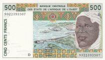 Mali 500 Francs homme 1993 - Mali