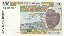 Mali 500 Francs homme 1994 - Mali