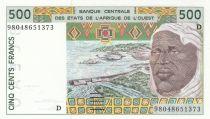 Mali 500 Francs homme 1998 - Mali