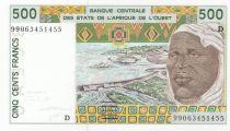 Mali 500 Francs homme 1999 - Mali