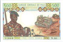 Mali 500 Francs Soldats - Caravanne et chameaux - 1973-84 - N.14
