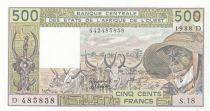 Mali 500 Francs zébus 1988 - Mali - Série S.18