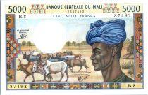 Mali 5000 francs  Homme et troupeau - Coton - 1984