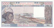 Mali 5000 Francs femme 1984- Mali - Série W.6