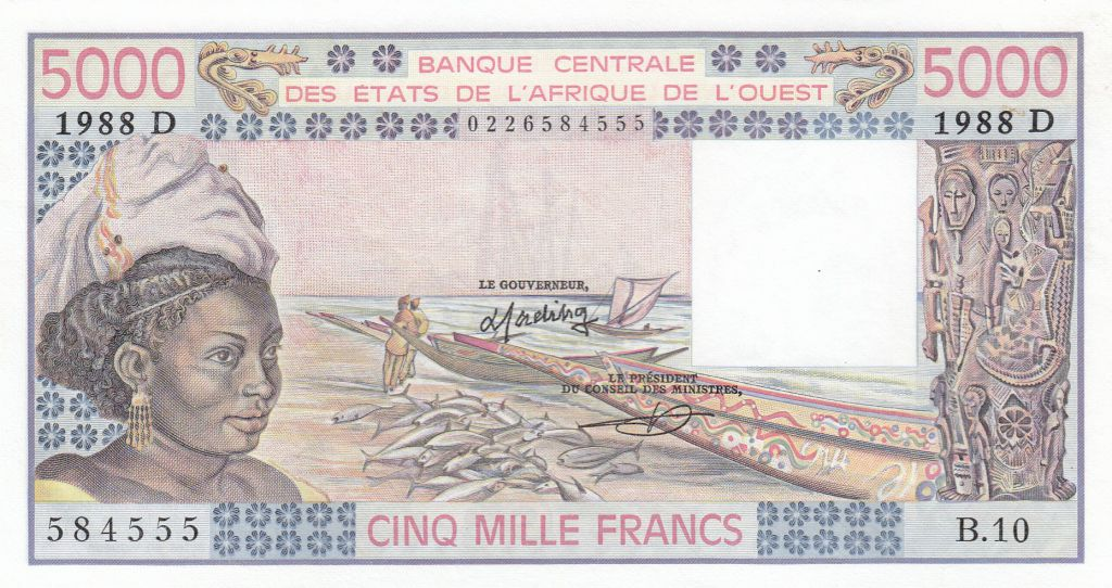 Mali 5000 Francs femme 1988- Mali - Série B.10