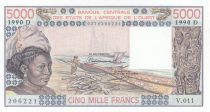 Mali 5000 Francs femme 1990- Mali - Série V.011