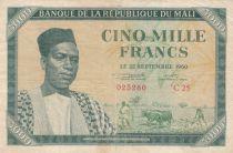 Mali 5000 Francs Pdt M. Keita - 1960 - P.5 - TB