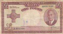 Malta 1 Pound L.1949 - George VI - A/20 491330