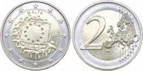 Malta 2 Euro 30 years of European Flag - 2015