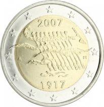 Malta 2 Euro 90 years of Independance - 2007 - AU