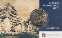 Malta 2 Euro Malta 2 euros - GGANTIJA TEMPLES 3600-3200 BC - COINCARD - 2016