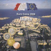 Malta UNC Set Malta 2008 - 8 euro coins