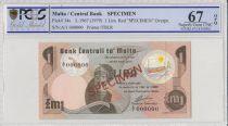 Malte 1 lira  - 1979 - Spécimen - PCGS 67 OPQ
