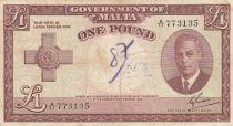 Malte 1 Pound L.1949 - George VI -  A/11 773135