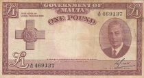 Malte 1 Pound L.1949 - George VI -  A/12 469137