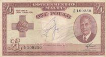 Malte 1 Pound L.1949 - George VI -  A/21 109250