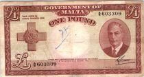 Malte 1 Pound L.1949 - George VI -  A/5 603309