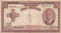 Malte 1 Pound L.1949 - George VI -  A/5 858015