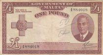 Malte 1 Pound L.1949 - George VI -  A/8 884018