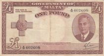 Malte 1 Pound L.1949 - George VI - A/10 402608