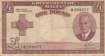 Malte 1 Pound L.1949 - George VI - A/19 284857