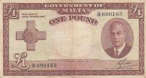 Malte 1 Pound L.1949 - George VI - A/19 690163