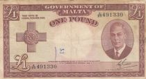 Malte 1 Pound L.1949 - George VI - A/20 491330