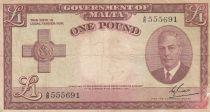 Malte 1 Pound L.1949 - George VI - A/6 555691