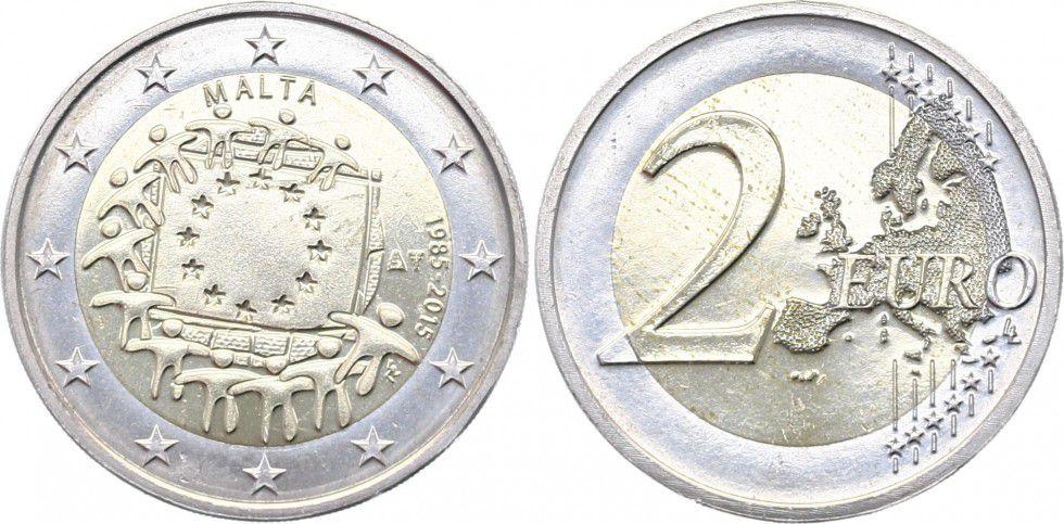 Malte 2 Euro 30 ans du Drapeau Européen - 2015