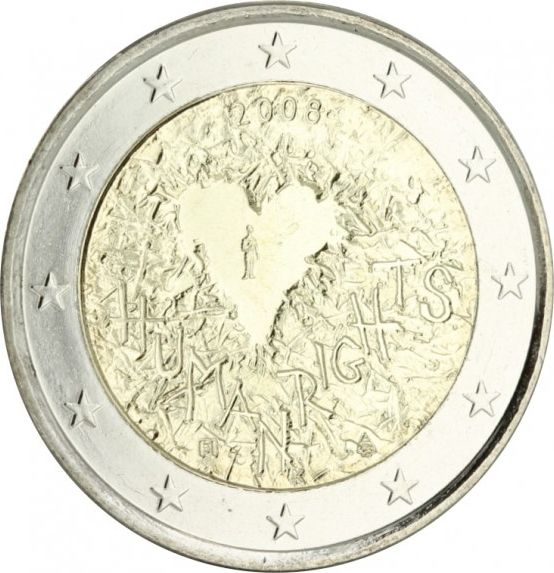 Malte 2 Euro Droits Homme - 2008 - SPL