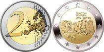 Malte 2 Euro Malte 2 euros - GGANTIJA TEMPLES 3600-3200 BC - 2016
